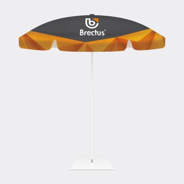 reklameparasoll, reklameparasoll med print, parasoll med logotrykk, rund parasoll med trykk, Parasoll med spesialtrykk, parasoller med trykk