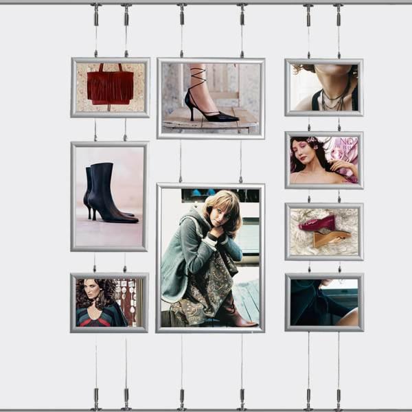 Plakatramme Wire Tosidig referanse ramme kombinasjon