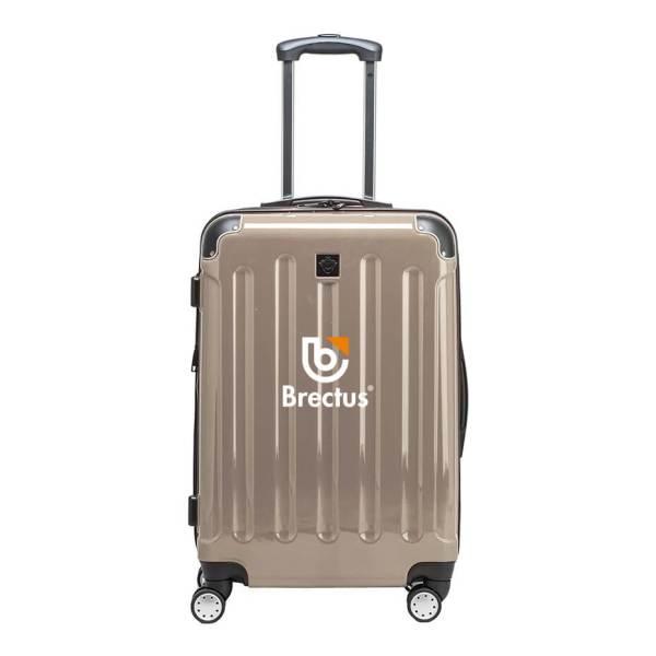 Koffert med trykk Brun