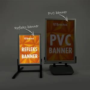 refleksbanner, refleks-plakat, trekk til gatebukk, materiale som reflekterer lys, Synlig i mørke, banner med refleks, Reflexbanner, Reflexplakater.