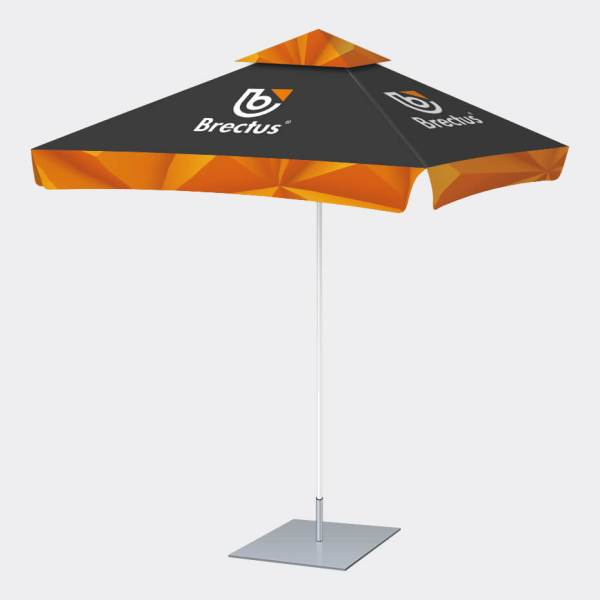 Parasoll firkantet med trykk. parasoll Firkantet