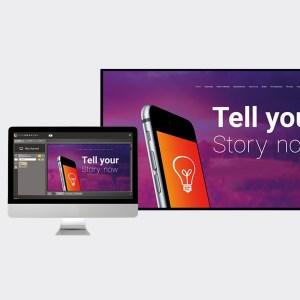 Interaktive skjermer, kommersielle flater og Digital reklame.