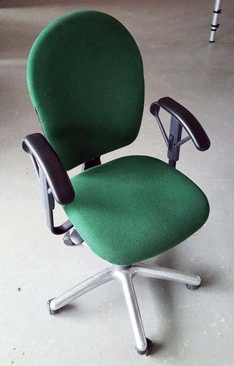 bureaustoel groen chroom