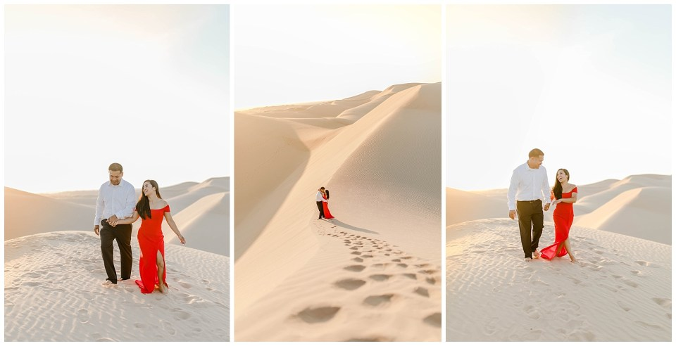 Glamis Sand Dunes Engagement Session by bree and stephen photography