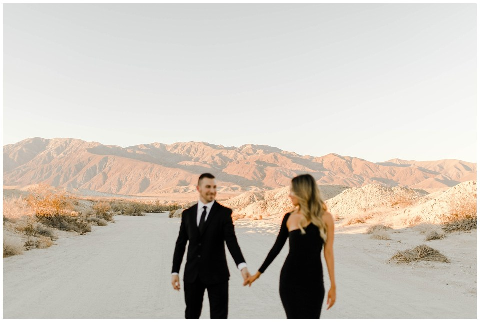 adventurous couple in anza borrego desert