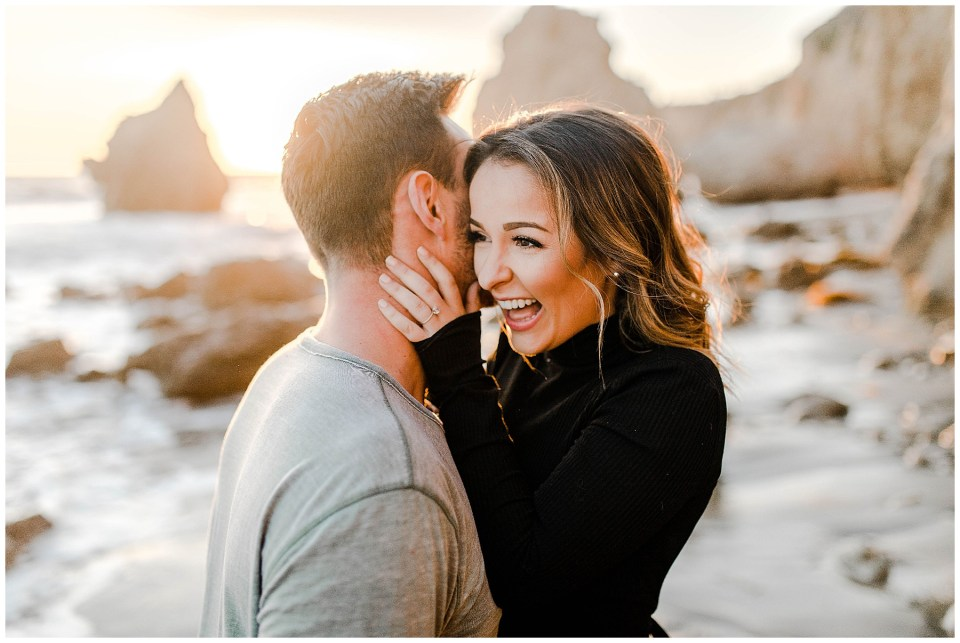 malibu beach engagement photography session by bree and stephen