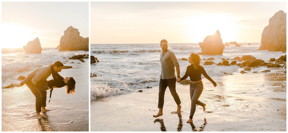 engagement photography on malibu beach