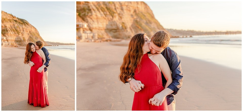 romance on la jolla beach in san diego california