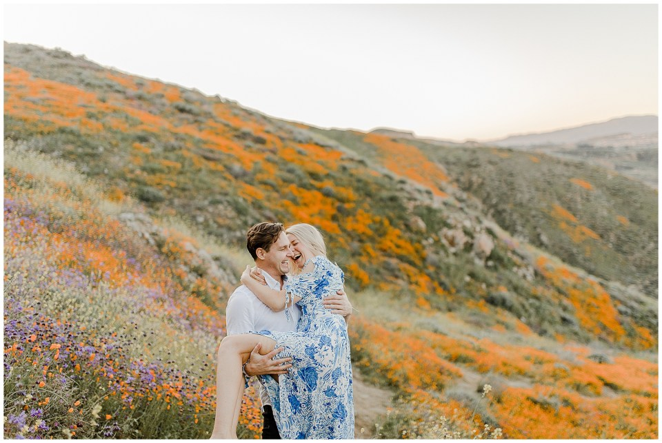Flower Field Engagement Photography Session at Walker Canyon