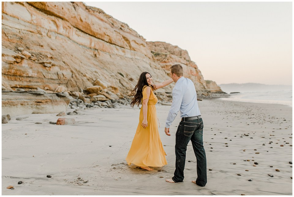 couple dancing on the beach in San Diego