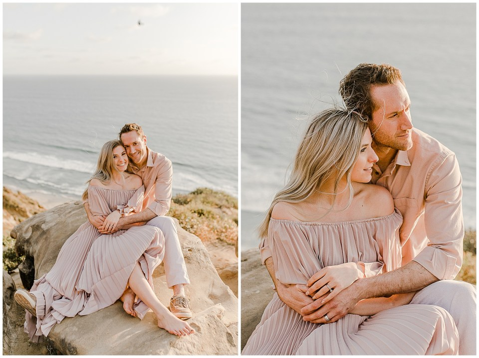 sunset engagement pictures in la jolla - torrey pines gliderport couples session by bree and stephen photography