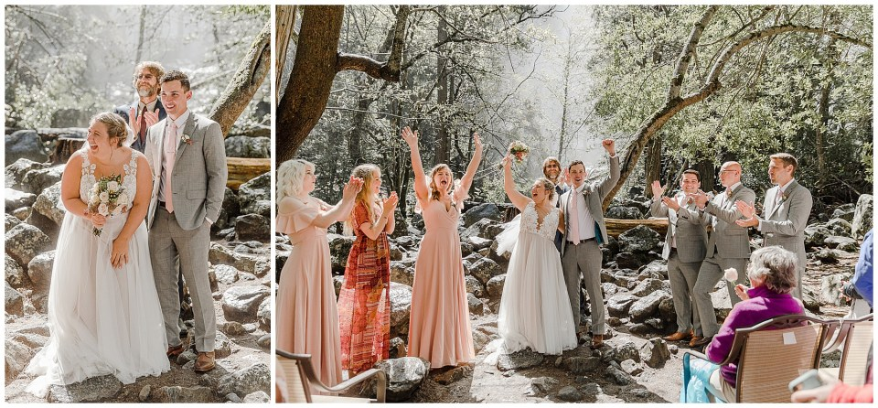 bride and groom married in yosemite national park