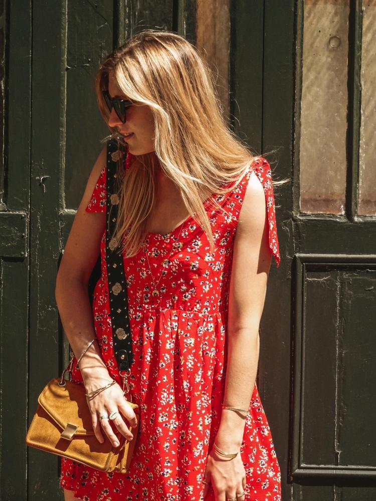 robe lena rouge