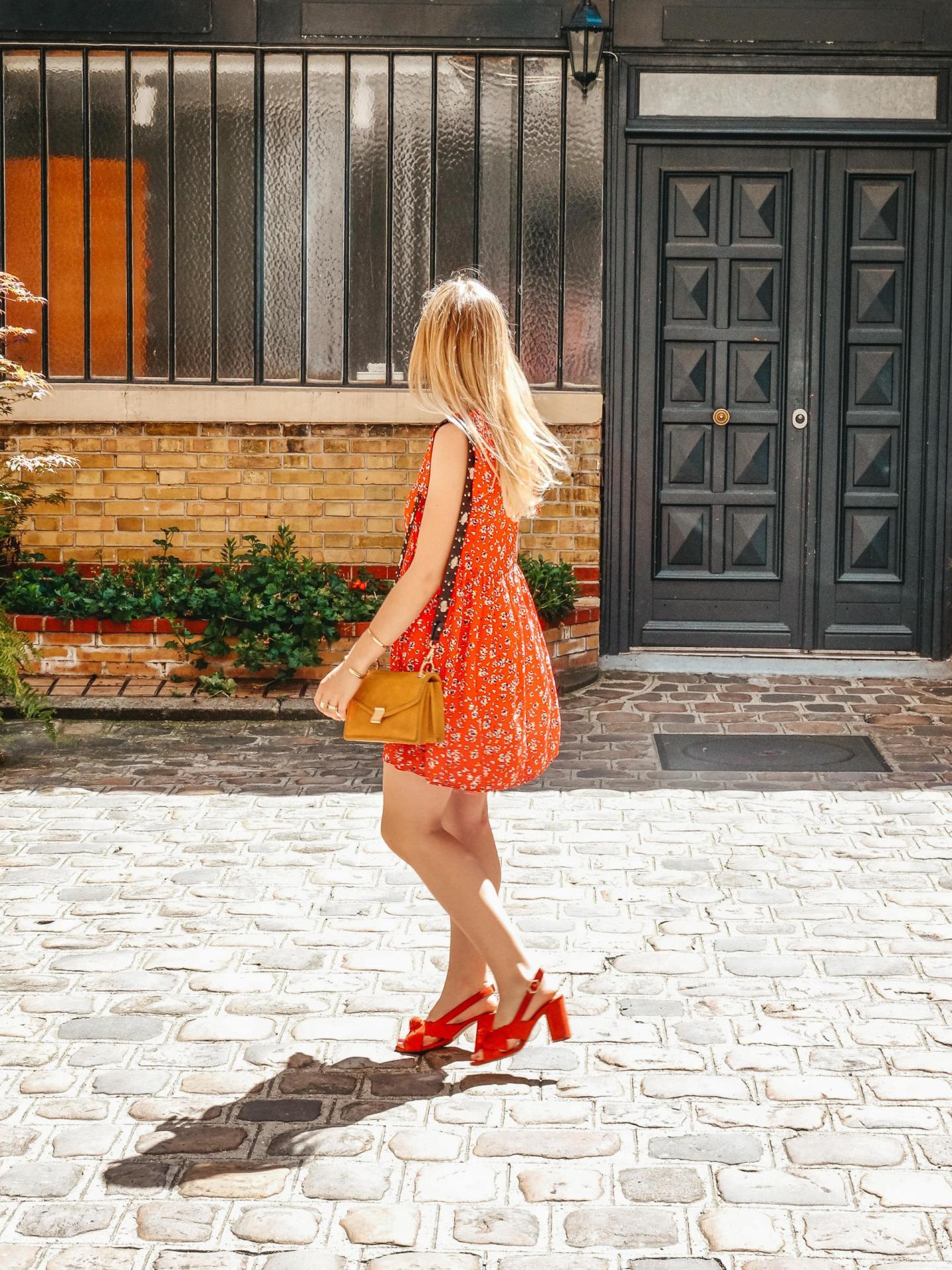 robe rouge marque parisienne