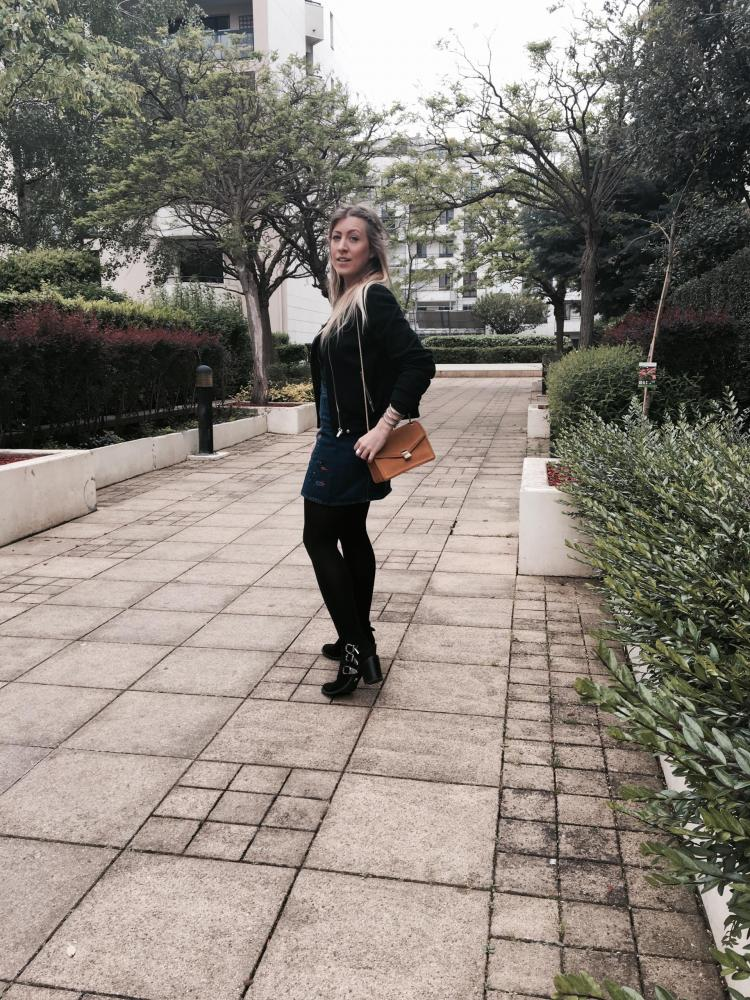 Sharefashion - La jolie jupe en jean brodée 3