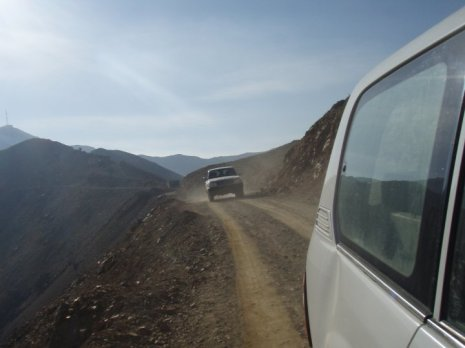 Taken later in the year, this is the road that goes over the ridge and into Shutol from the main highway.