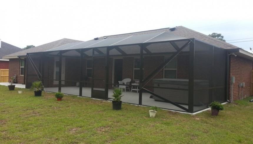 screen enclosure for pools and patios