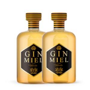 2 botellas gin miel