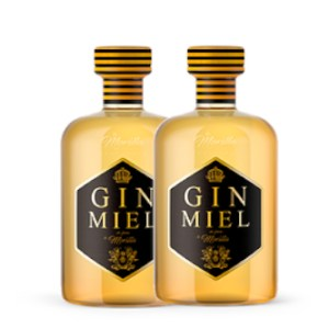 2 botellas gin miel