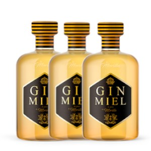 3 botellas gin miel