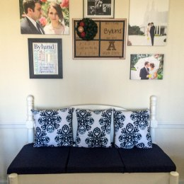 DIY Friday: Bed Frame into Bench