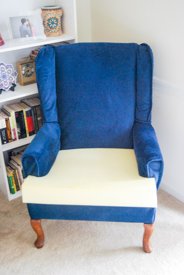 DIY Friday- Blue Velvet Chair | Breezing Through  6