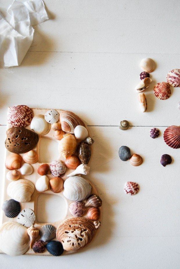 DIY Friday- SeaShell Letter | Breezing Through 3