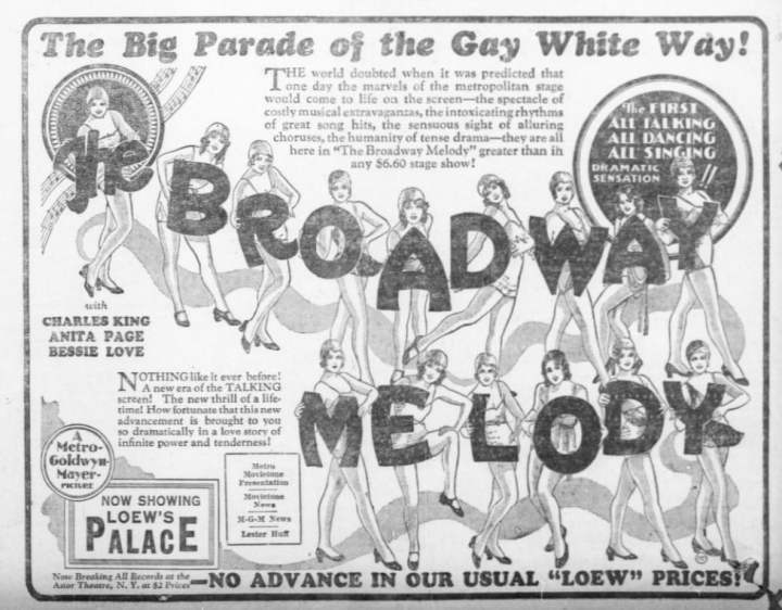 The Broadway Melody, 1929