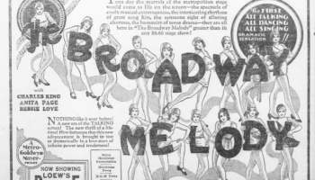Vintage Newspaper Ad for Broadway Melody 1929