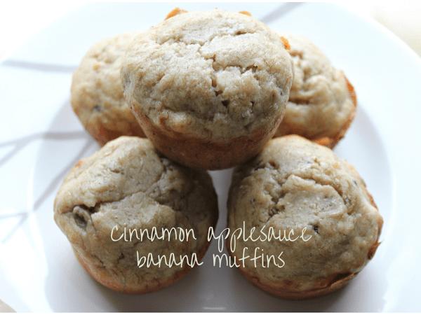 cinnamon applesauce banana muffins