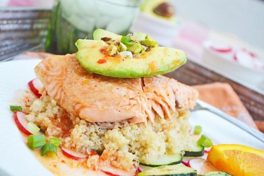 Quinoa Salmon Salad