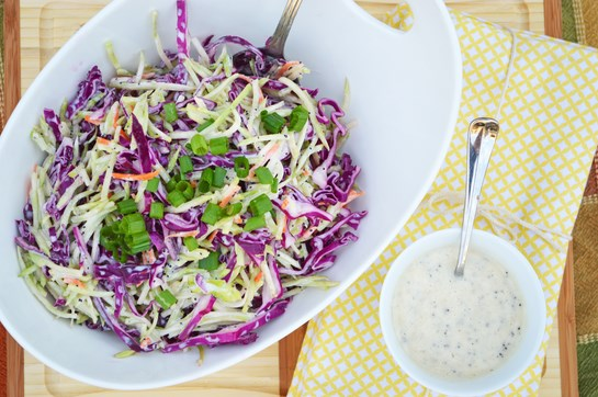 Red Cabbage and Broccoli Slaw