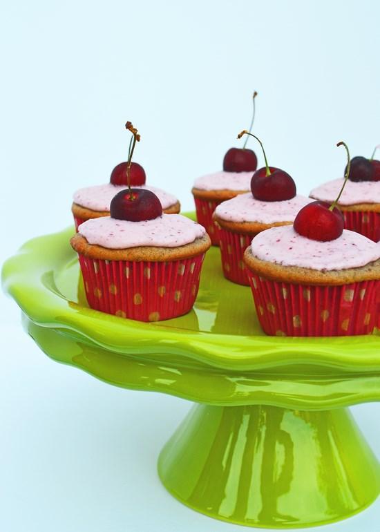 Cherry Vanilla Cupcakes