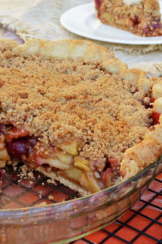 Cranberry Orange Apple Pie