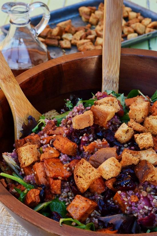 Cranberry Sweet Potato Quinoa Salad