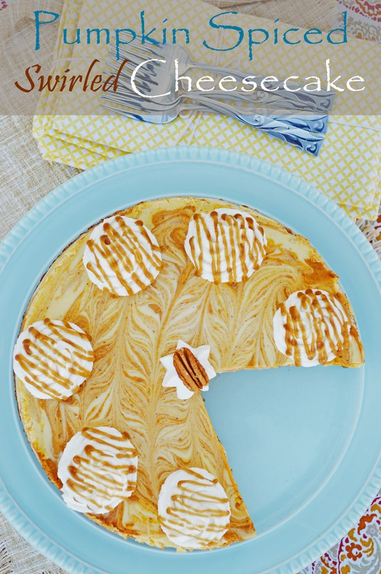 Gluten Free Pumpkin Swirl Cheesecake