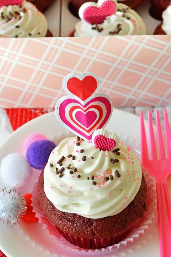 Gluten Free Red Velvet Valentine Cupcakes