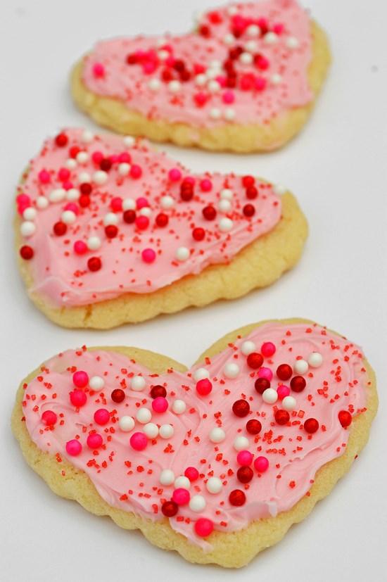 Cute Vanilla Sprinkle Heart Sugar Cookie Bakery Food Earrings