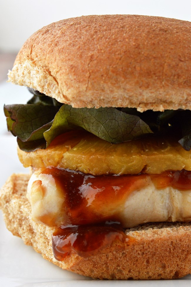 Gluten Free Grilled Chicken and Pineapple teriyaki Sandwiches