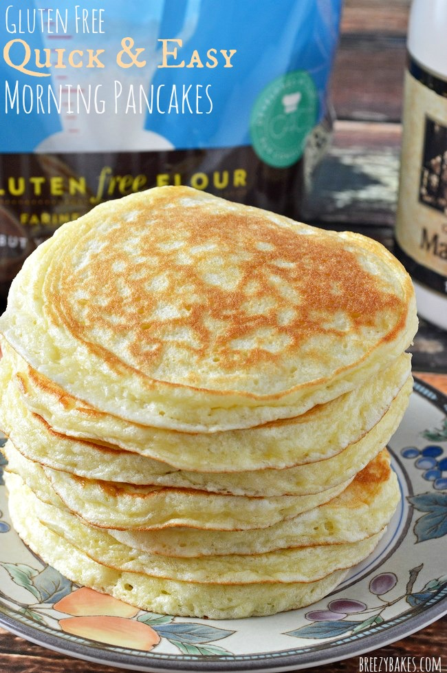 Gluten free quick and easy morning pancakes breezy bakes gluten free easy pancakes ccuart Gallery