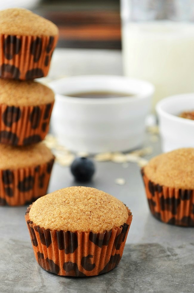 Gluten Free Maple Cinnamon Muffins are sweetened with pure maple syrup  and brown sugar and flavored with warm cinnamon. A perfect morning snack.