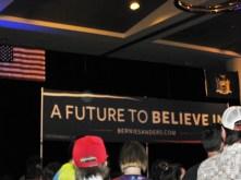 At the Bernie Sanders rally