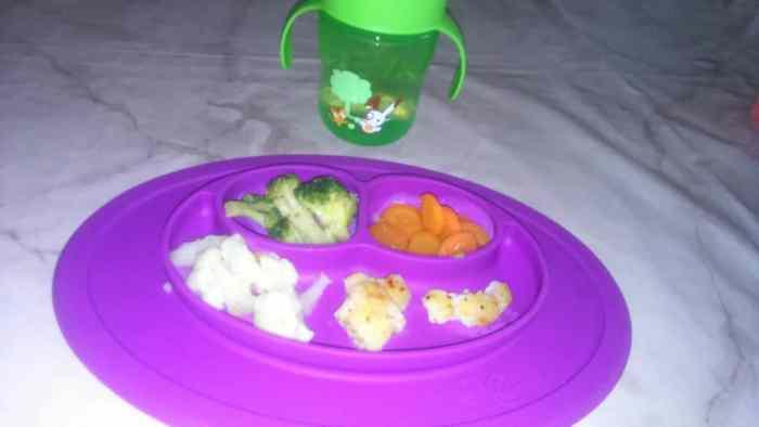 Mini Mat für BLW Baby - Snacks für Kids schön serviert