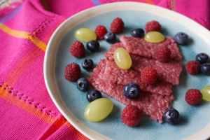 Frühstück für Babys und Co. – pinke Milchreisschnitten