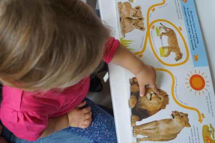 Fingerspurenbuch mit Tieren für Kleinkinder