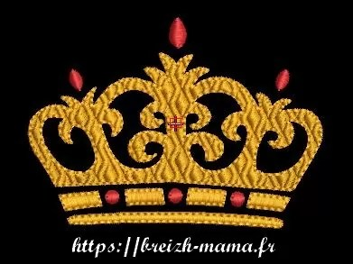 Motif broderie - Couronne
