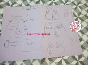 dessin modèle couture jupe