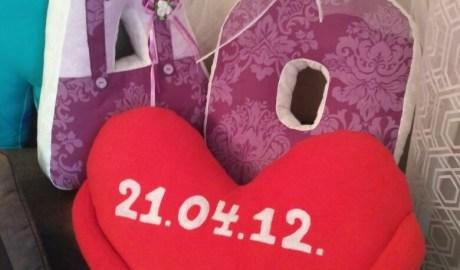 Coudre un coussin coeur St-Valentin