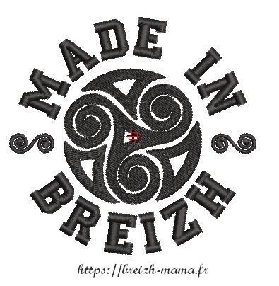 Motif broderie gratuit Made in Breizh