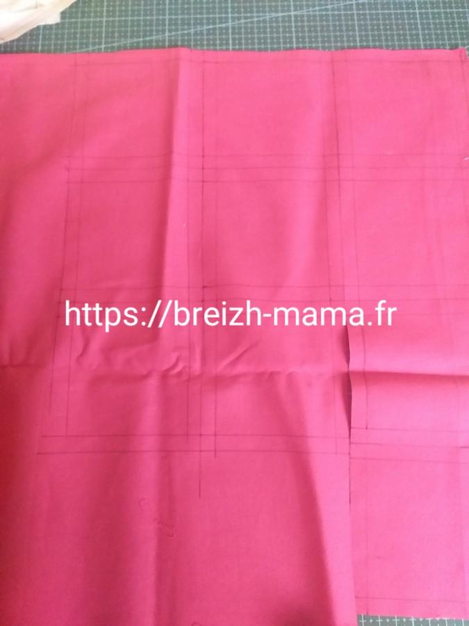 1 - Réaliser les tracés sur votre tissu